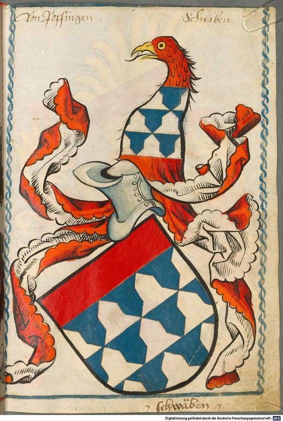 Scheibler'sches Wappenbuch Süddeutschland, um 1450 - 17. Jh. Cod.icon. 312 c  Folio 27