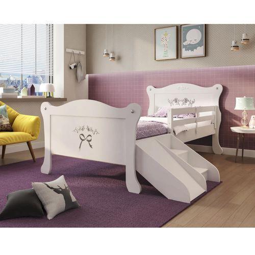 Cama Infantil Provence Com Grade Escadinha E Escorregador Pura