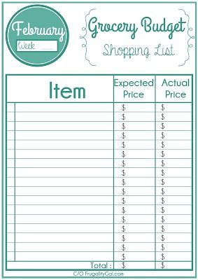 Free Printable Grocery List. Helps you organize your shopping list ...