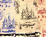 New Orleans Toile from www.HazelnutNewOrleans.com   many, many beautiful things here!