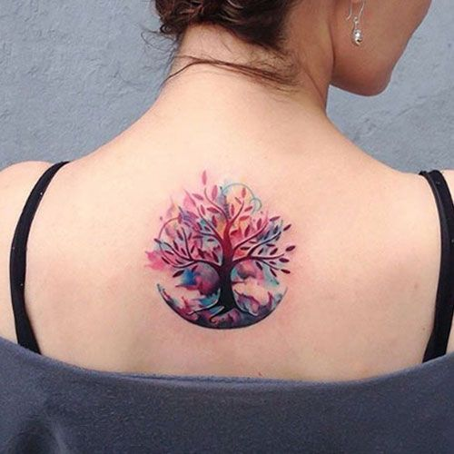 Colorful Back Tattoos For Women Best Tattoos For Women Tattoos For Women Cool Tattoos