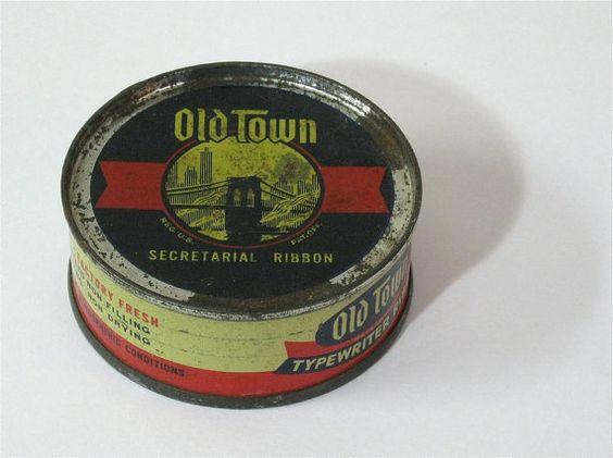 Vintage Unopened Old Town Secretarial Ribbon by CanemahStudios, $12.95