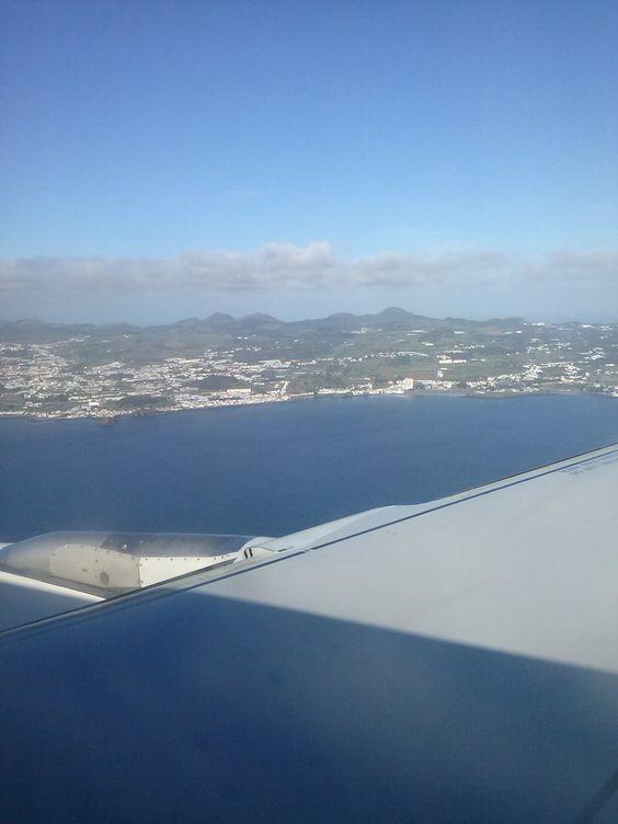 Ilha de S.Miguel vista de avião