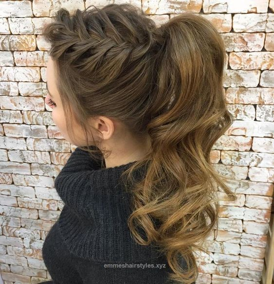 Unbelievable Curly+Ponytail+With+A+Side+Braid The post Curly+Ponytail+With+A+Side+Braid… appeared first on Emme's Hairstyles .