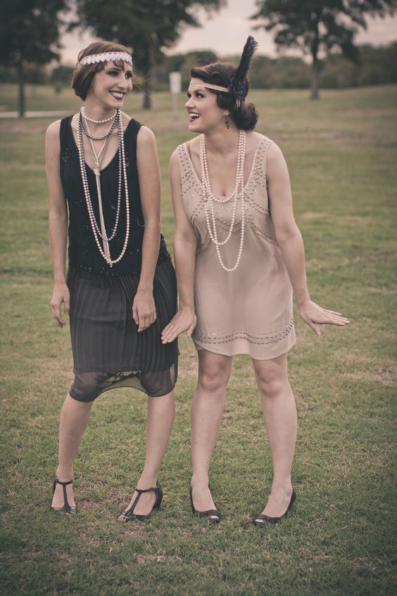 Vintage bridesmaid , flapper dresses.