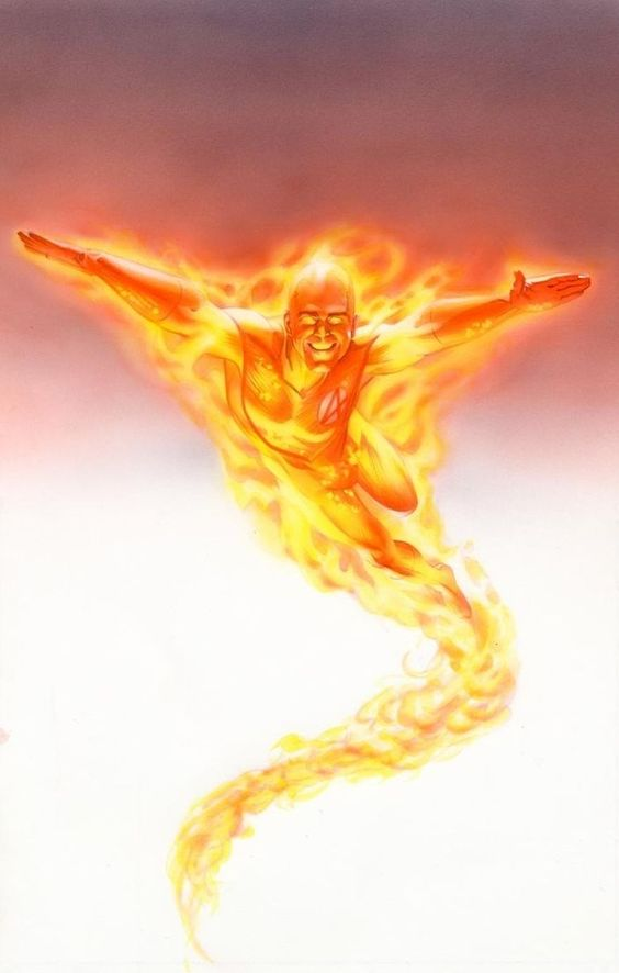 Human Torch by Mike Mayhew