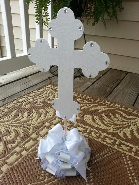 Centerpieces white crosses and on pinterest