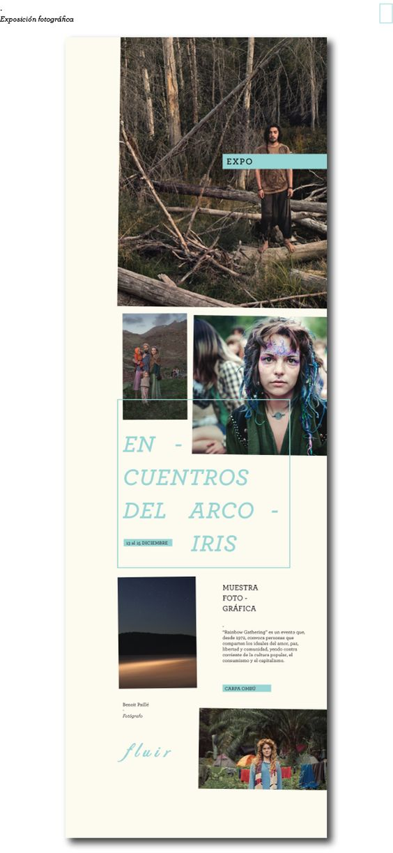 Aficheta Exposición - Festival Fluir By Celeste Mazzariol
