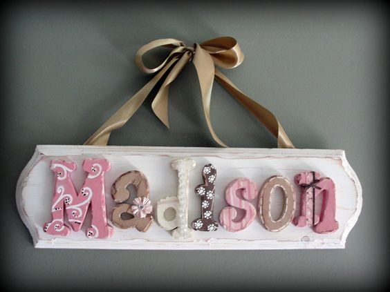 Love These Vintage Letters Perfect Colors For Mia S Room