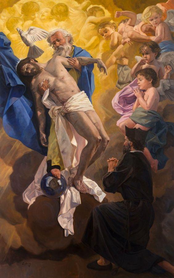 The Vision of Saint Philip Neri / La Visión de San Felipe Neri //  ©  Raúl Berzosa // Iglesia de San Felipe Neri, Málaga, España // #HolyTrinity #SantaTrinidad