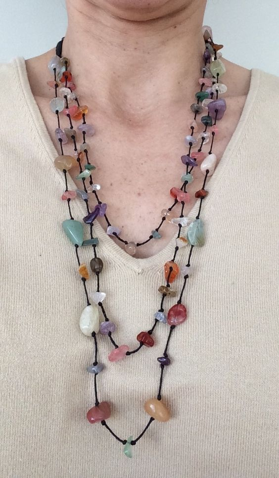 Do you like color glass? Then this necklace has the same sparkles! Gorgeous colors. $20 https://www.etsy.com/listing/210519978/multistrand-glass-beads-necklace-glass?ref=related-2