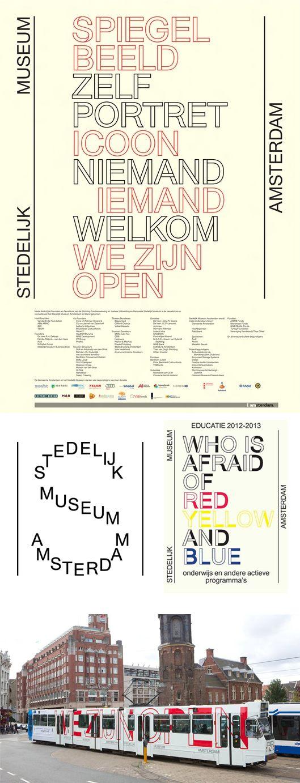 Stedelijk Museum Amsterdam Identity, designed by Mevis and van Deursen.