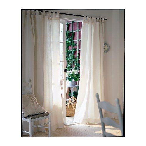 LENDA Tenda con bracciale, 2 teli, sbiancato bianco | Curtains and ...