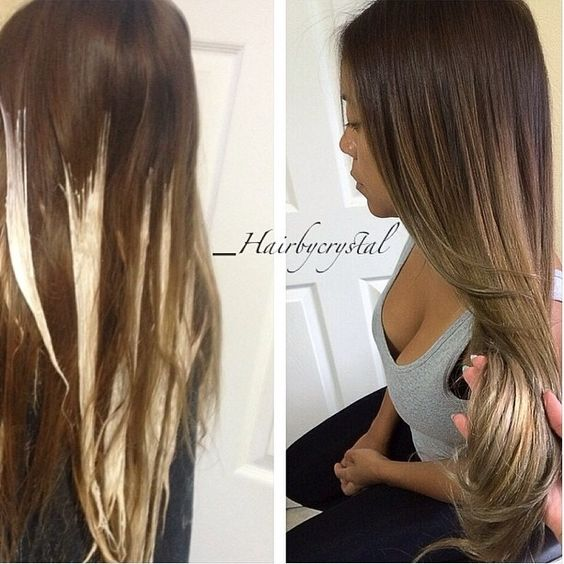 How to balayage your own hair using the freestyle method.