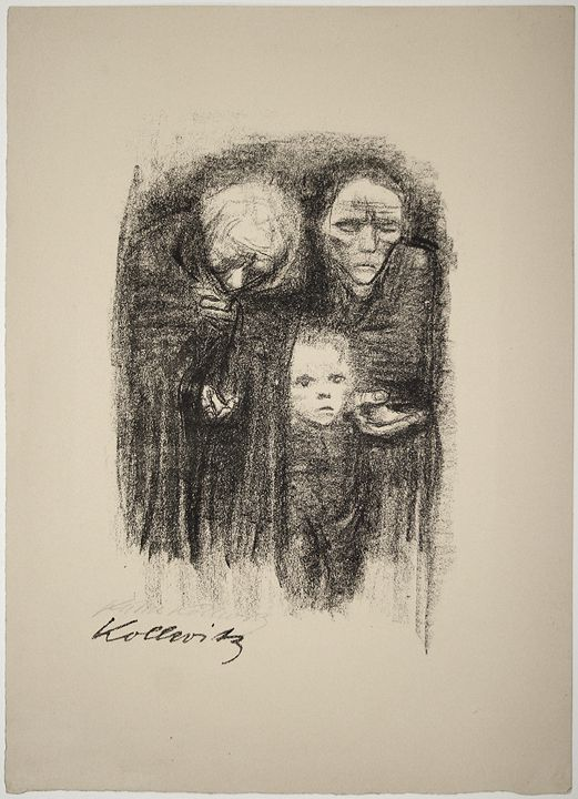 Käthe Kollwitz Wehrt dem Hunger! Kauft Ernährungsgeld, 1924 ( Fight Against Hunger! Buy Food Coupons ):