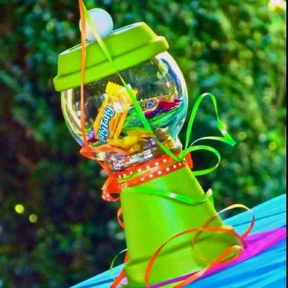 Candy holder centerpiece party ideas pinterest