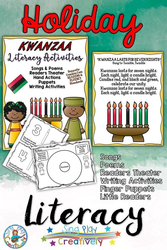 Kwanzaa songs, poems, readers theater, puppets, writing ...