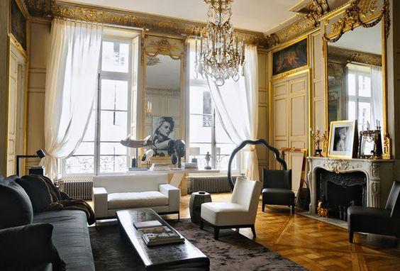 parisian appartments interior http://blog.studio-interior.ru/2014/02/blog-post_13.html