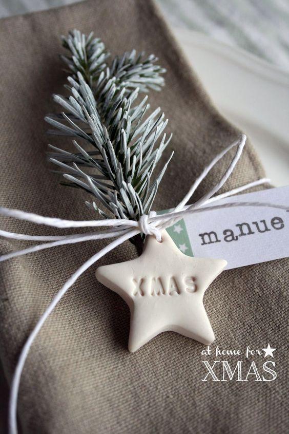"Pink Frilly: ""at home for XMAS"" tutorial segnaposto natalizio"