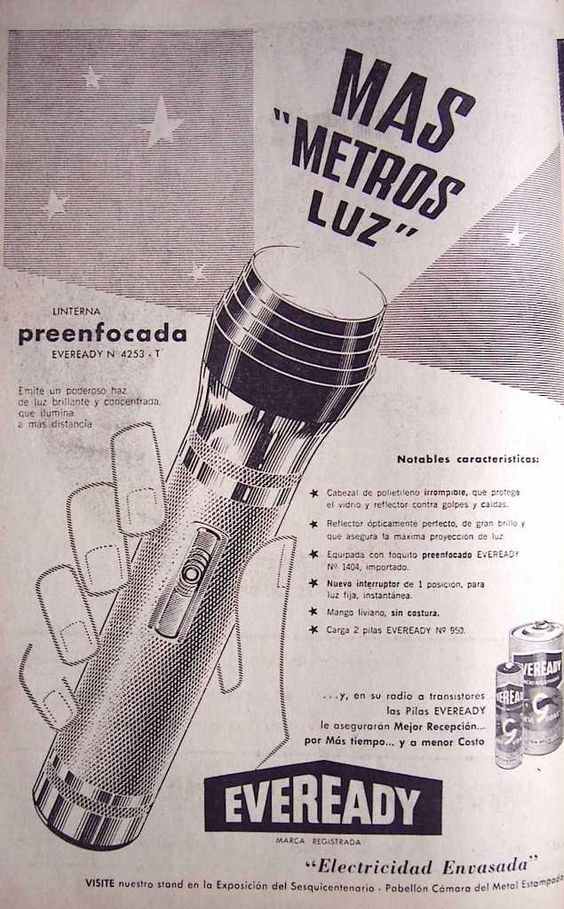 Eveready Linternas 1961