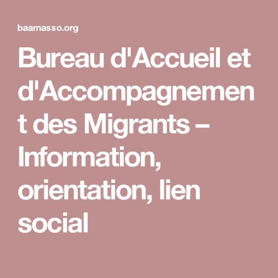 Bureau d'Accueil et d'Accompagnement des Migrants – Information, orientation, lien social