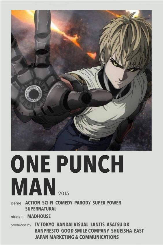 𝒪𝒩𝐸 𝒫𝒰𝒞𝐻 𝑀𝒜𝒩 one punch man poster