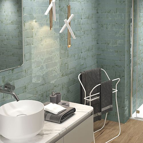 Tesoro Grunge Aqua 3 X 12 Wall Tile Ceramic Tile Backsplash Aqua Tiles Wall Tiles