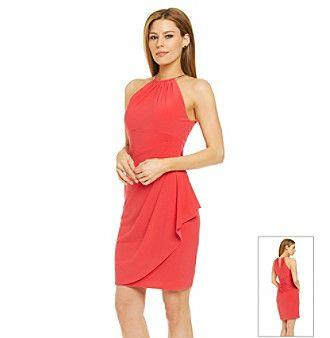 Xscape Necklace Halter Cocktail Dress - My Style - Pinterest ...