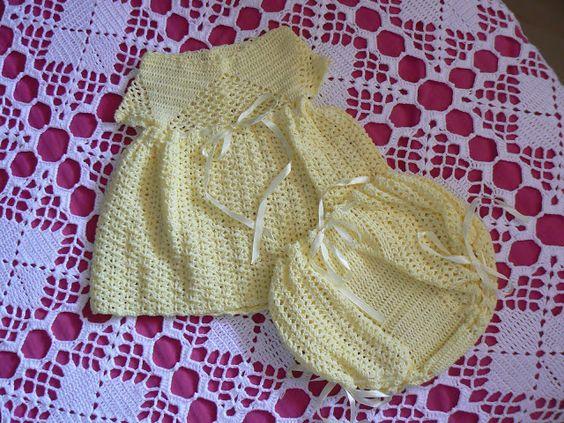 Estante do Croche: Vestido Croche Amarelo