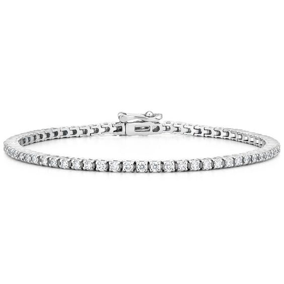 Diamond Tennis Bracelet - 18K White Gold