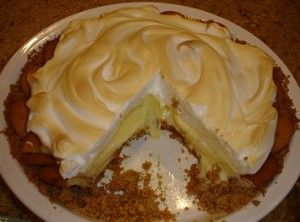 Old Fashioned Lemon Ice-Box Pie. The blog where this came from said that it reminded her of her Granddaddy. My Granddaddy is why I thought of this pie in the first place. :)