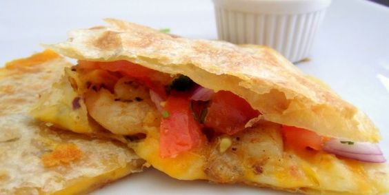 Spicy Shrimp Quesadillas