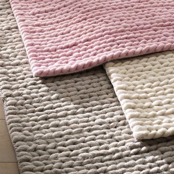 Tapis en pure laine, effet maille tressée, 3 tailles, Diano La Redoute Interieurs | La Redoute Mobile: