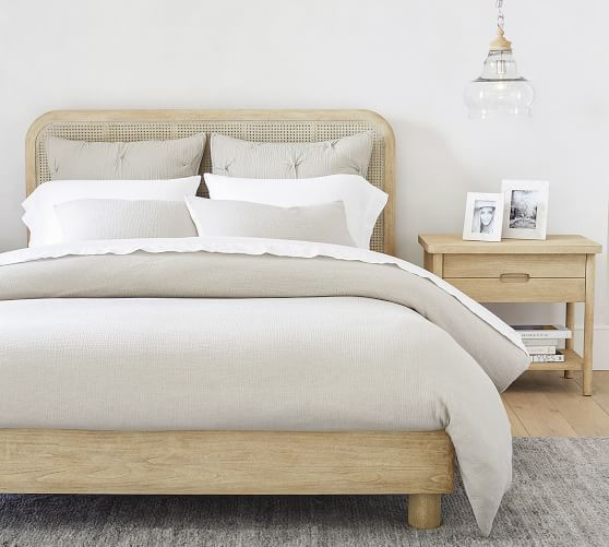 Manzanita Cane Platform Bed Pottery Barn In 2020 Cane Bed Caned Headboard High Quality Furniture