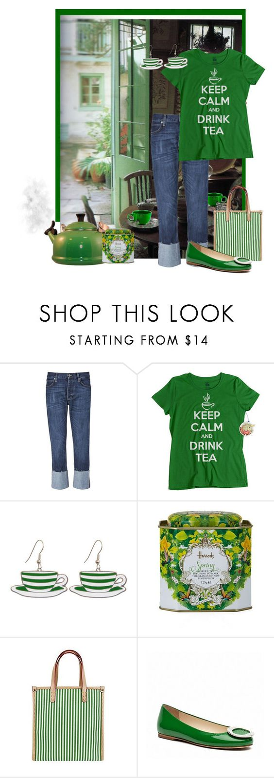"""Green Day"" by heatherm3 ❤ liked on Polyvore featuring interior, interiors, interior design, home, home decor, interior decorating, MiH, Dollydagger, Harrods and Dooney & Bourke"