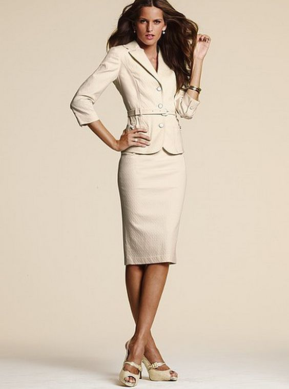 Skirt Suits for Women | Fashion In Shades Of Brown, Neutrals