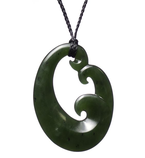 Pinterest the world s catalog of ideas for Jade fish hook necklace