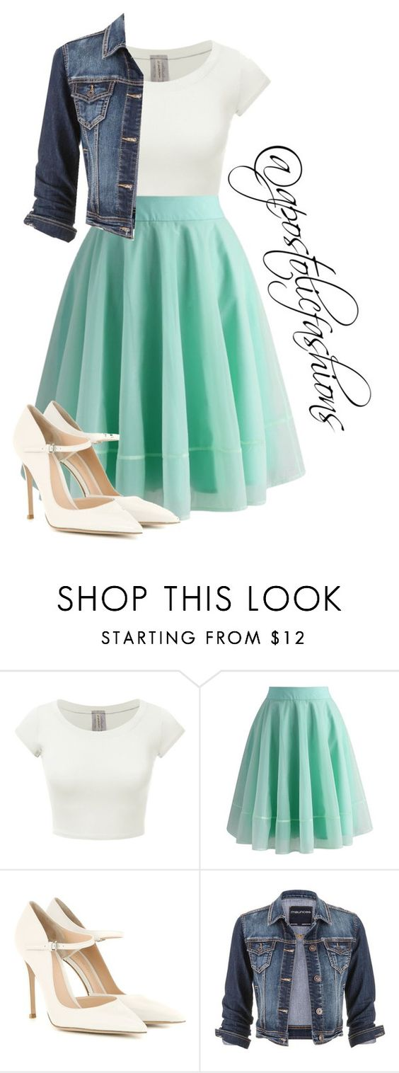 """""""Apostolic Fashions #1359"""" by apostolicfashions on Polyvore featuring Chicwish, Gianvito Rossi and maurices"""