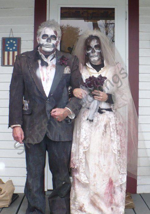 zombie bride amp groom halloween costumes   halloween