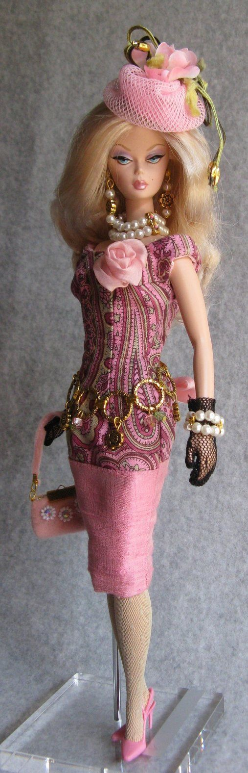 Pink handmade doll dress for silkstone BArbie by Twinkling-Stardust on DeviantArt