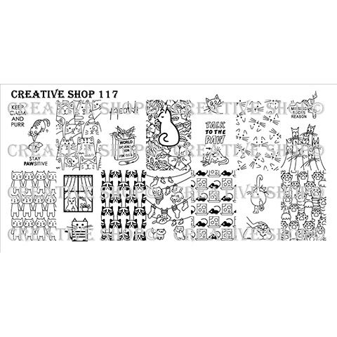 Creative Shop- Stamping Plate- 117