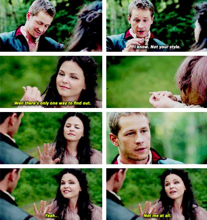 snow and charming. This part is when charming knows he loves her. I love this part!!!