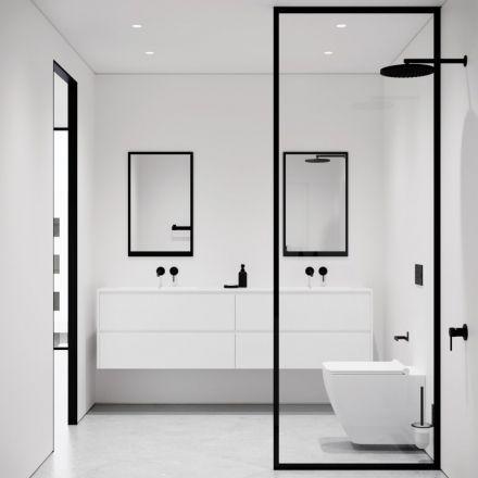 Badezimmer Innenausstattung Klein In 2020 Badezimmer Innenausstattung Badezimmer Design Minimalistische Badgestaltung