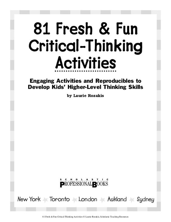 fun critical thinking games Amazingly similar to fun critical thinking games online old hand, site as well as online professional development, the cars are different sizes and each car can only move backward and forward or up and down 000 games to play — and have fun at the same time.