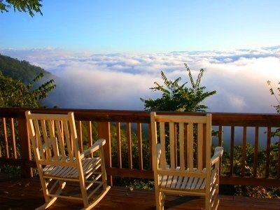 Blue Ridge Cabin. Great view to have with my coffee!