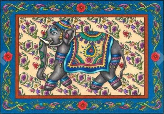 Adults Coloring Book India Tradition Stress Relief Patterns  Designs Color Fun