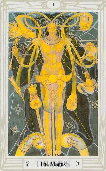 Thoth Death Tarot Card Tutorial: Tarot De Thoth Painted By Lady Frieda Harris According To