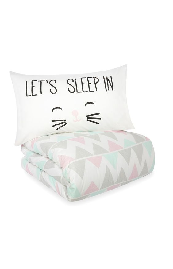 Primark - a must have Gabriella Cat Face Single Duvet Set only ?12.00 #primark #cute #tumblr ...
