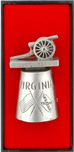 Thimble / Pewter - Virginia Civil War Cannon - Gifts To Go