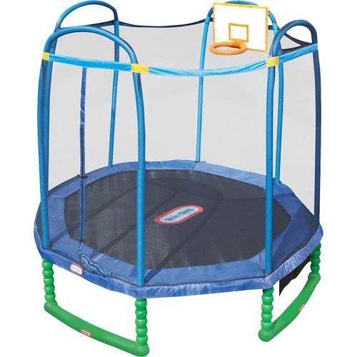 Little Tikes Sports 10 Trampoline Blue Green Black 640261m Best Buy Kids Trampoline Small Trampoline Backyard Trampoline